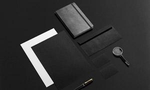 记事本信封名片与纸张样机模板素材