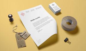 印章标签与纸张吊牌胶带等样机模板