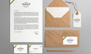 信纸吊牌与铅笔名片等样机模板素材