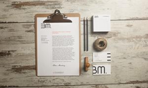 纸张铅笔与名片正反面等样机源文件