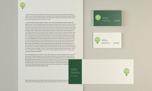 商务信封与名片等样机模板分层素材