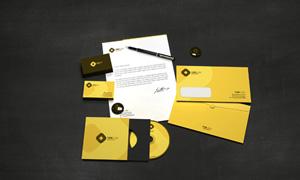 光盘包装与信封名片样机模板源文件
