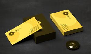 商务名片正面与背面展示模板源文件