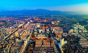 城市航拍图美丽景观摄影图片