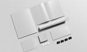 信封与画册内页展示等样机模板素材
