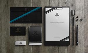 纸张与信封名片夹等样机模板源文件