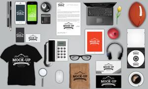 手机文化衫与电话信封等样机源文件