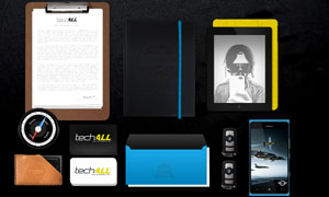 平板电脑与手机名片等样机模板素材