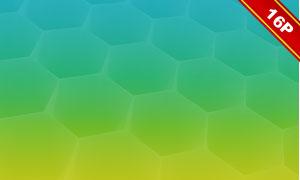 炫麗蜂窩狀元素抽象背景高清圖片V1