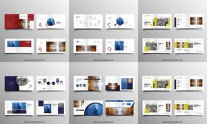 画册页面版式模板矢量素材集合V180