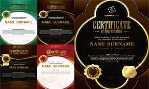 多种多样的授权书与证书等素材V182