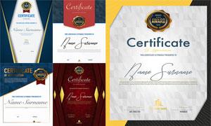多种多样的授权书与证书等素材V183