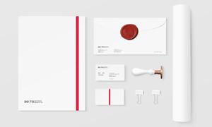 纸张与信封名片等VI元素分层源文件