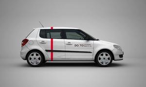 汽车广告装饰效果样机模板分层素材