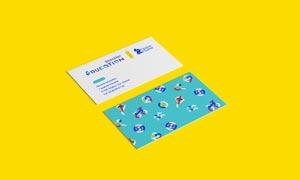 企业名片展示效果贴图模板分层素材
