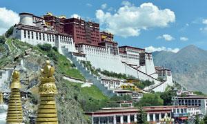 西藏壮观的布达拉宫摄影图片