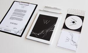 光盘盒与平板电脑等样机模板源文件