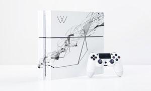 游戏机外包装效果贴图模板分层素材
