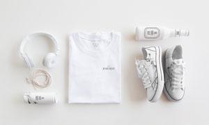 耳机鞋子与短袖衫等贴图模板源文件