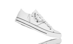 小白鞋图案效果展示样机模板源文件