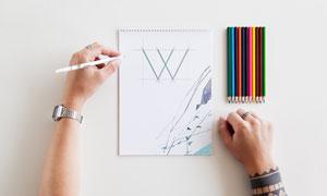 手绘作品与多彩铅笔等贴图模板素材