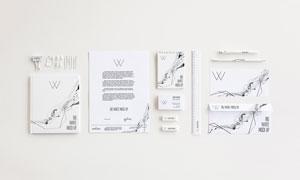 画册纸张与名片信封展示效果源文件