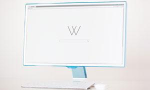 电脑显示器屏幕内容样机分层源文件