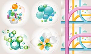 多边形等立体图形抽象背景矢量素材