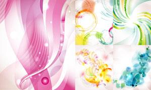 炫彩光效曲线元素背景创意矢量素材