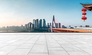 城市地面背景桥梁高清摄影图片
