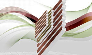 曲线与立体创意的图形PSD分层素材
