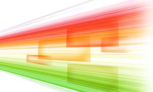 红绿色渐变的线条创意设计分层素材