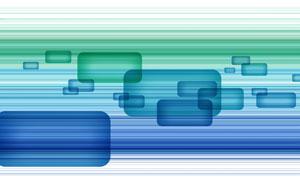 矩形与蓝绿色线条创意PSD分层素材