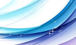 星光点缀装饰曲线元素创意分层素材