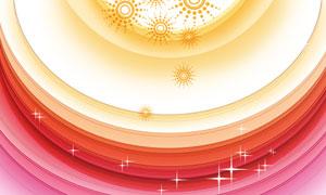 圆点圆环星光曲线元素创意分层素材