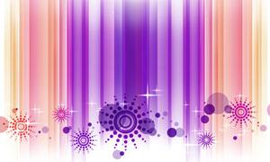 星光圆点与竖向线条等创意分层素材