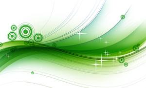 绿色圆圈与曲线等创意设计分层素材