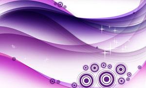 星光圆环装饰点缀紫色背景分层素材