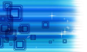 方块星光元素创意蓝色背景分层素材