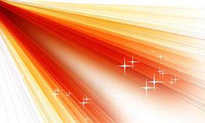 星光元素红橙色的光线创意分层素材