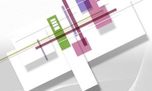 曲线波点元素抽象创意设计分层素材