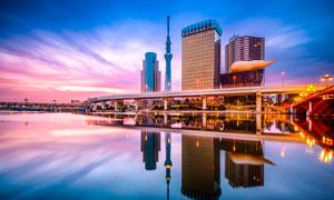 日本伊豆美丽夜景摄影图片