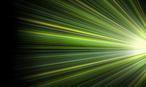 绿色耀眼光线主题背景创意分层素材