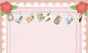 蛋糕与蕾丝花边等插画创意分层素材