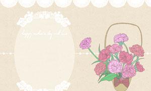鲜花与花朵元素边框装饰等分层素材