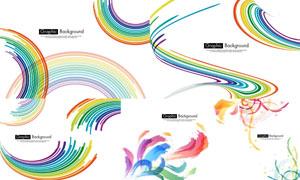 缤纷效果彩虹颜色背景创意矢量素材