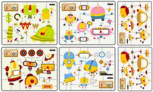 多种机器人卡通创意设计矢量素材V2
