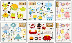 多种机器人卡通创意设计矢量素材V3