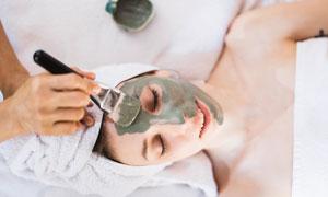 美容護理美女人物特寫攝影高清圖片