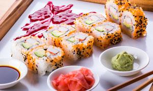 色香味俱佳的日料寿司摄影高清图片
